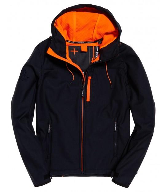 Hooded Windtrekker Navy/Lazer Orange