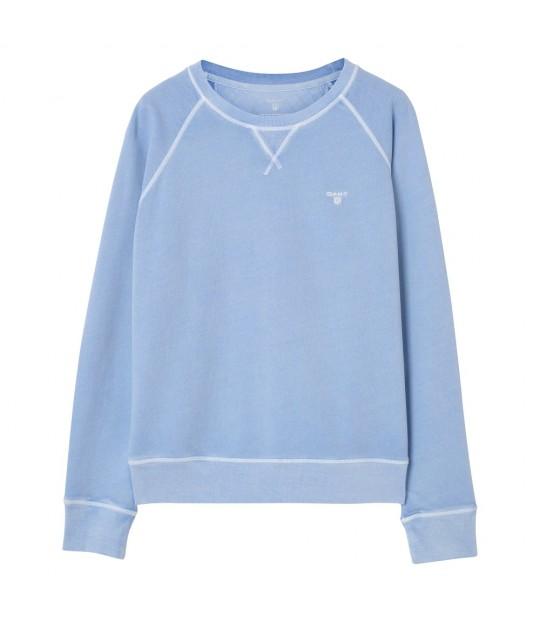 Sunbleached C-neck Sweat Capri Blue