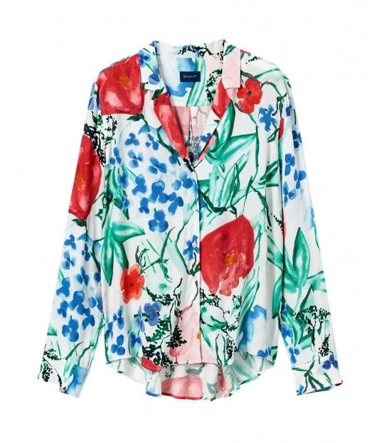 Garden Silky Shirt Blouseq