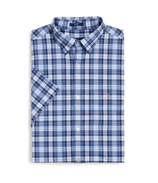 Tp Broadcloth Check Reg bhd SS Blue