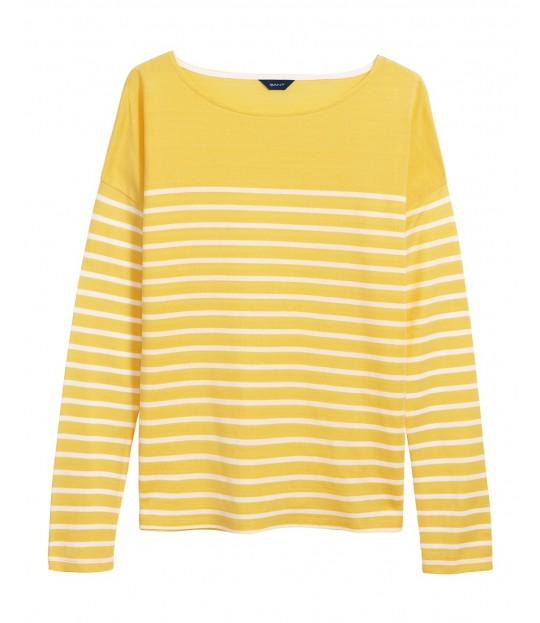 Light Weight Striped Top Yellow