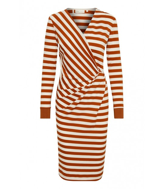 Fillucca Drape Rib-Cuff Dress