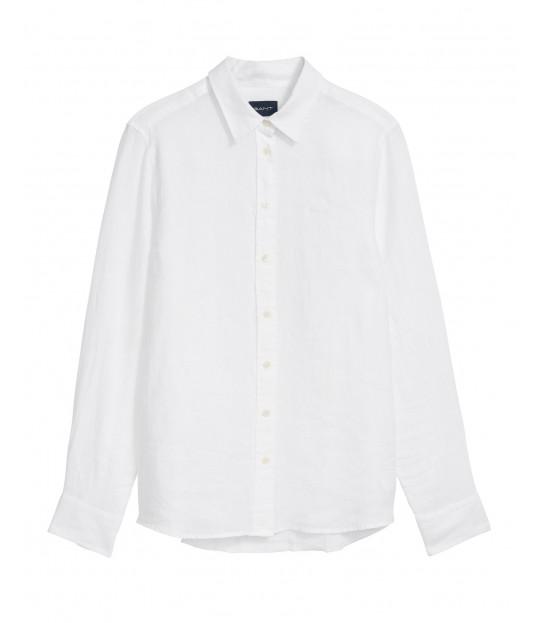 The Linen Chambray Shirt White