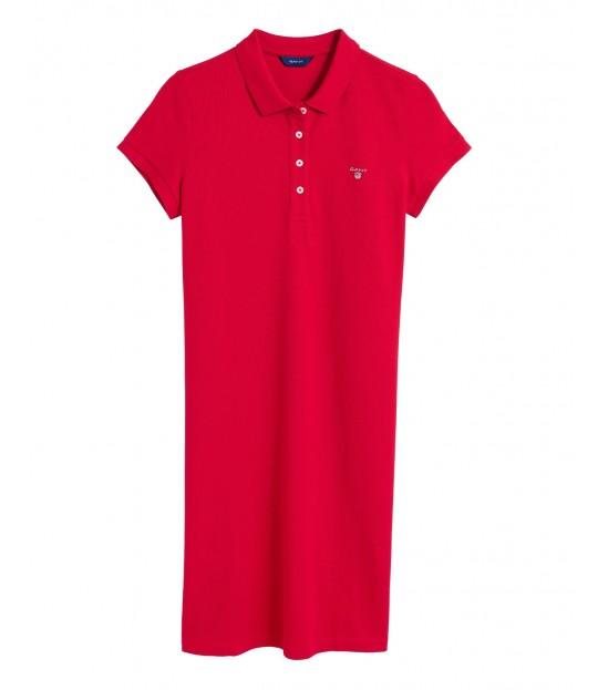 The Original Pique ss Dress Red