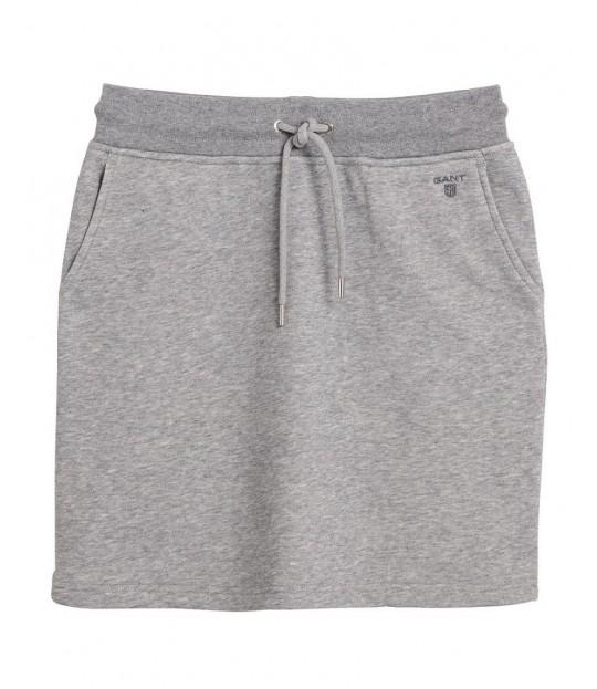 Tonal Shield Sweat Skirt Grey Melange