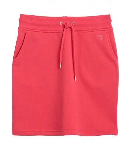 Tonal Shield Sweat Skirt Watermelon Red
