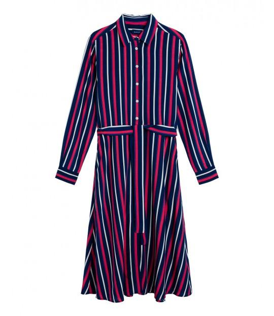 Fluid Striped Dress