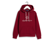Gant Lock-Up Hoodie Red