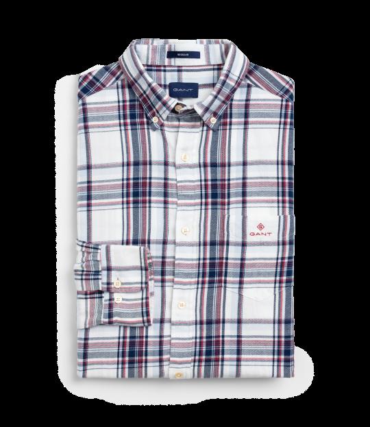 Flannel Indigo Shirt White