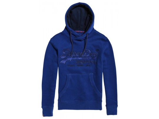 Downhill Racer Applique Hood Blue